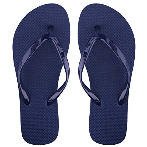 Unisex-Erwachsene Flip Zehentrenner Beach Sandalen (37/38 EU, Navy blau-1) Navy Peep Toe Schuhe