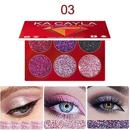 Valentine 's beste Geschenke für Frauen !!! Beisoug Sexy 6 Farben Makeup Shinny Gillter Lidschatten...
