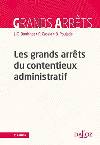 Les grands arrts du contentieux administratif - 5e d.
