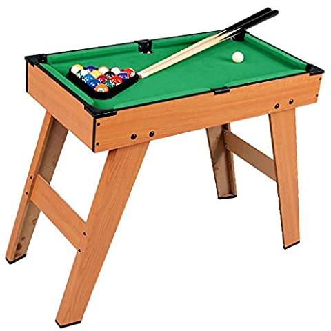Kids Mini Pool Snooker Billiard Table Indoor Gaming Fun Play