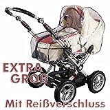 XXL Regenplane Regenverdeck Regenschutz für Kinderwagen mit Reißverschluß EXTRA GROß 10526