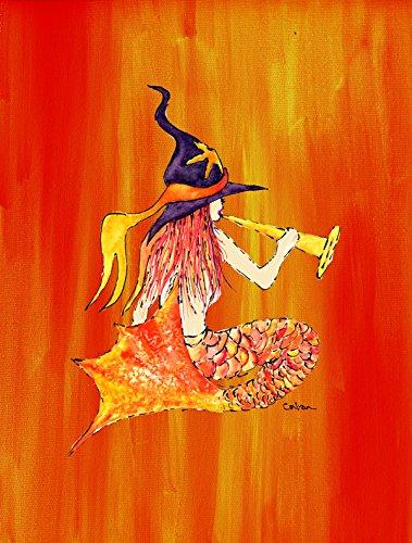 Caroline's Treasures 8629GF Meerjungfrau in Hexenhut Halloween Flagge, klein, Mehrfarbig