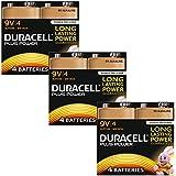 Duracell MN1604 Plus Power 9v Batteries--Pack of 12