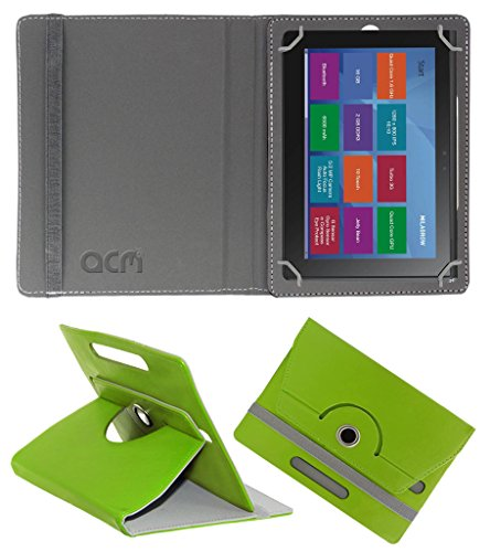 Acm Rotating 360° Leather Flip Case for Milagrow M8 Pro Cover Stand Green  available at amazon for Rs.189