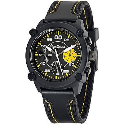 Pepe Jeans R2351108001 - Reloj con correa de acero para hombre, color negro/gris
