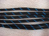 Foot Rope Starke Runde Farbige Schnur Schnürsenkel zum Spazierengehen, Wandern, Arbeit oder Sicherheitsstiefel (Schwarz - Blau, 145cm)