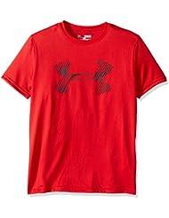 Under Armour Combo Logo SS T Camiseta, Niños, Rojo (Red), YXL