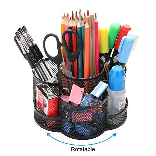 Porte-crayons bureau rotatif, Po...