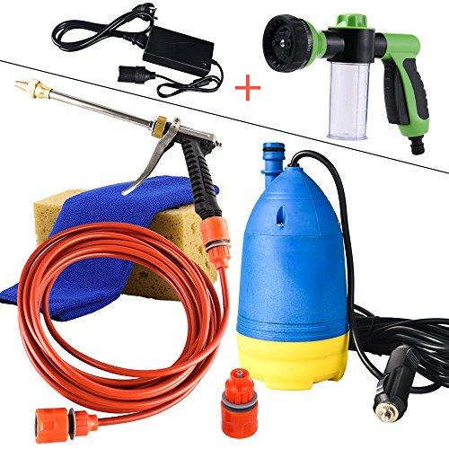 Multifunzionale ad alta pressione pompa autoadescante acqua elettrico macchina lavaggio auto rondella auto pulizia per pistola a spruzzo 12 V(XCH-B02+DY+SQ-02)