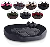 BedDog 4in1 Bed for a dog SABA, 110x80 cm(43x31 inch), L till XXXL, 7 colours to choose, warm basket cushion, pillow for a dog, sofa for a dog, basket for a dog, anthracite/gray XXL