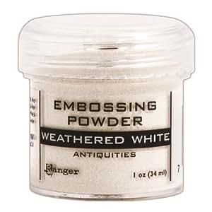 Embossing Powder 1Oz Jar-Weathered White