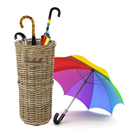URBN LIVING ® Kubu ratán Mimbre Paraguas Soporte