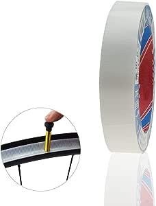 Drift Maniac Tubeless Felgenband Mit Starker Faser Werkzeugfreies Abreiß Design 22 Mm X 20 M Weiß Sport Freizeit