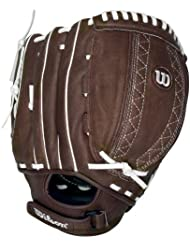 Wilson A440 FP115 Fielder's Brown Throw Fastpitch Glove (Right Handed Throw, 11.5-Inch) by Wilson