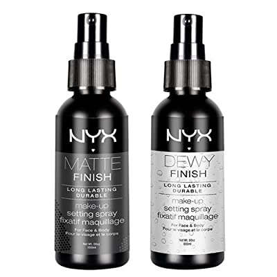 """2 NYX Makeup Setting Spray """"MSS 01+02"""" Matte/Dewy Finish (Long Lasting) by Nyx"""