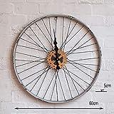 IG Wohnmöbel Wanddekorationen Uhr Industrielle Retro Fahrrad runde runde Wanduhr Kreative Persönlichkeit Cafe Wohnzimmer Uhren und Uhren