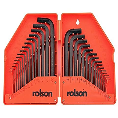 Rolson 40345 Hex Key, 30 Pieces