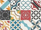 Sirface Espagnol méditerranéen Stickers pour carrelage-Ensemble de Stickers pour carrelage pour Cuisine et Salle de Bain-Lot DE 24-Différentes Tailles Disponibles, 6x6 inches | 15x15 cm