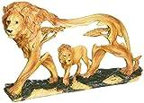stealstreet ss-ug-mmd-185, 20,3cm Löwen in der Wild WOODLIKE Brustumfang Szene Carving Statue Figur