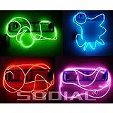 SODIAL(R) Cable Neon Brillante Efecto Estroboscopico Electroluminiscente (Cable EL) - Verde, Azul,...