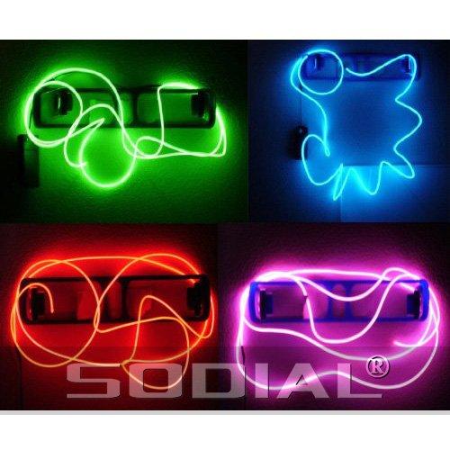 tende Strobe Elektrolumineszenz Draehte (El Draht) - Gr¨¹n, Blau, Rot und Pink Party Pack (Pink El Draht)