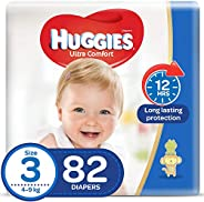 Huggies Ultra Comfort, Size 3, 4-9 kg, 82 Diapers