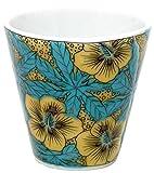 Copa ochoko (copa japonesa pequeña para beber sake) de cerámica Kutani, con motivos de flores, modelo Karuta KSO-04, de Japón