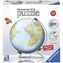 Ravensburger El Mundo sobre V-Stand Globe, 540PC 3d Jigsaw Puzzle®