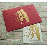 Fushoulu 12 Stück/Set Hochzeitseinladung Dichtungen Gold Umschlag Dichtungen Bräutigam Und Braut Aufkleber Verlobungsfeier Aufkleber Diy Vinyl Aufkleber