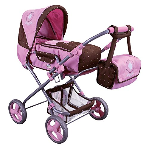 Kombi Puppenwagen Marlene mit Tasche und Einkaufsnetz Art. 82901 - Rosa Kombi-spielzeug