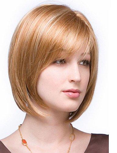 (Mode Perücken WIGSTYLE beste Verkaufs kurze glatte Haare Europäischen Weave-Mischungsfarbe Haarperücke mit voller Bang)