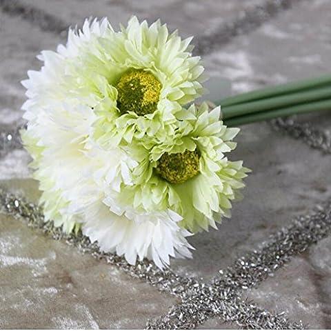 GWZ,Mazzo della Margherita, 7 legare mazzi di fiori, fiori artificiali LINXIANBISHUIYIYUAN