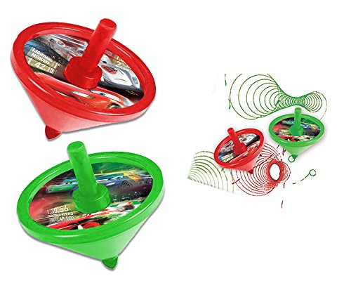 Brigamo 17878 - 2 Stück Disney Cars Malkreisel mit Filzstift, perfekt für kleine Künstler thumbnail