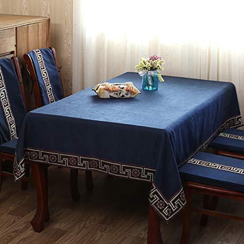 ige Tischdecke Tischtuch Jacquard Chevron Stoff Abwaschbar Wachstuch Tischwäsche Tischtücher Geeignet Für Home Küche Dekoration (Color : Blueb, Size : 140x220cm) ()