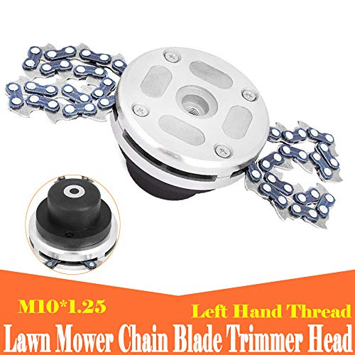 LUCKYHH Grass Trimmer Head with 65Mn Chain Strimmer Head Weed Eater M10 x 1.25mm Universal fit Straight Shaft Replacement Suitable for Garden Lawn Brush Cutter Part Accessory