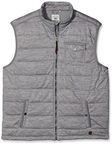 LERROS Große Größen Herren Sweatshirt Sweatweste Grau (Steel Grey 231)