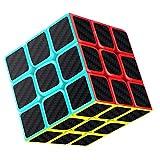 Axcone Cubo Fibra del Carbón Cubo mágico Cubo Puzzle Cubo Mágico Inteligencia Mágico Cubo Rompecabezas y Fácil Giro, Súper Duradero para Brain Training Game para Regalo de Adulto para Niños(3x3)