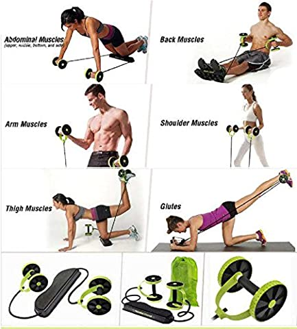 Sport Core Double AB Power ab roller ab wheel fitness Abdominal exercises Equipment coaster Pull roda Waist Slimming Trainer