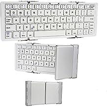 Teclado Microsoft Surface Windows 8 Pro / RT con Bluetooth Optimus de Cooper Cases(TM) en Blanco (Diseño portátil compacto y plegable; batería recargable de litio incorporada)