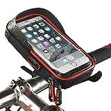 RBH Fahrrad Handyhalterung Lenkertasche Fahrradtasche Rahmentasche Handyhalterung Navigationshalterung Wasserdicht Handyhalter Tasche Fahrradlenkertasche für bis zu 6.0 Zoll Smartphone