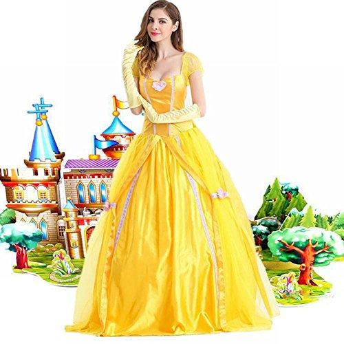 WEII Halloween Performance Kostüm Adult Prinzessin Kleid Prinzessin Belle ()