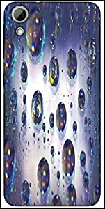 Snoogg Abstract Water Bubbles Designer Protective Back Case Cover For HTC Desire 626