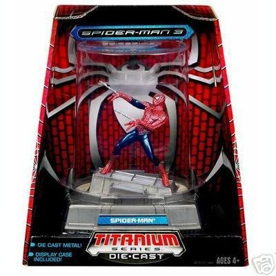 Spiderman 3 Marvel Figurine Titanium Series Die Cast Spiderman