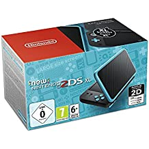 Nintendo New 2DS XL - Consola Portátil, Color Negro y Turquesa