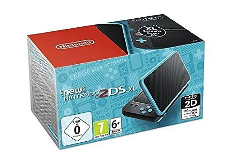 Nintendo New 2DS XL - Consola Portátil, Color Negro y Turquesa