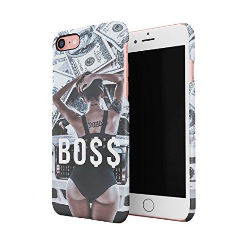 Like A Boss High Life Sexy Ass Girl Dollars Benjamins Franklins Cash Dünne Rückschale aus Hartplastik für iPhone 7 & iPhone 8 Handy Hülle Schutzhülle Slim Fit Case Cover