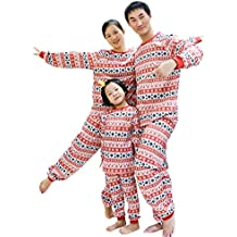 BOZEVON Pijamas de Navidad Familia Conjuntos - Niños Niñas Ropa de Dormir de Navidad Papá Mamá