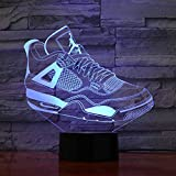 3D Shoes Table Lamp Led Baby Sleep 7 Colors Change Gradient Night Lights...
