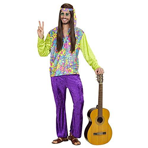 Summer Kostüm Love Hippie (Widmann 35413 - Erwachsene Kostüm Hippie Boy, Hemd, Hose und Stirnband,)