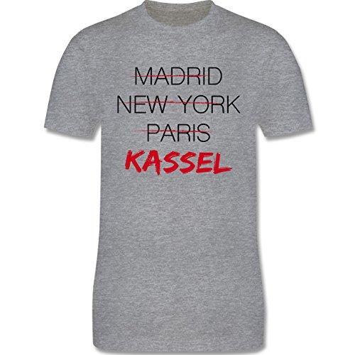 Städte - Weltstadt Kassel - Herren Premium T-Shirt Grau Meliert